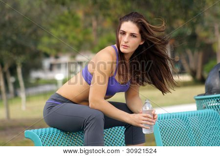 Beautiful Female Athlete Outdoors (9)