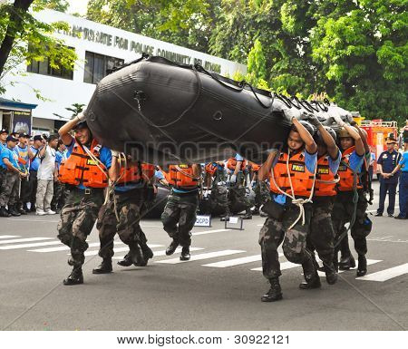 Philippine Police search & rescue training
