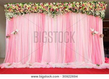 Beautiful Arrangement Backdrop Flowers.
