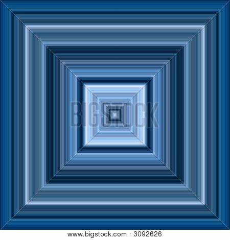 Infinite Decreasing Blue Squares Effect Abstract Background.