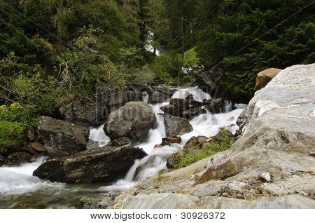 Stream In The Italian Mountains
