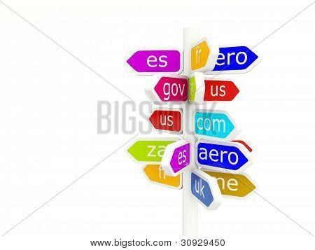 Domain name signs