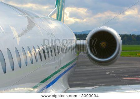 Jet Aircraft Close Up