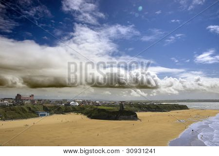 Ballybunion Town View And Beach