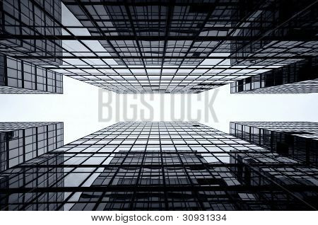 Glass Skyscraper Background, Hong Kong