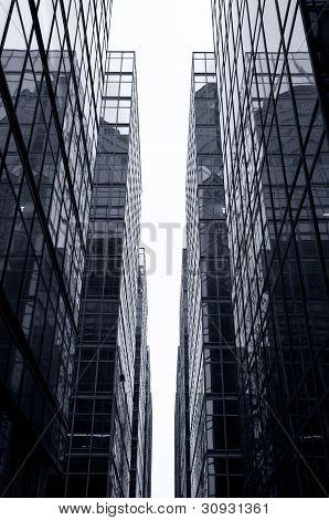 Glass Office Skyscrapers, Hong Kong