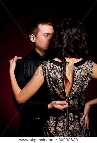 Fashion beautiful photo of man and woman