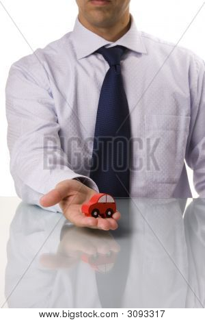 Businessman Selling A Car