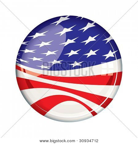 American stars and stripes US election flag for 2012