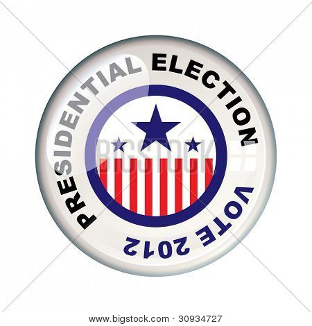 Presidential 2012 election in america badge icon
