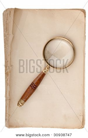 Old Manuscript With Loupe