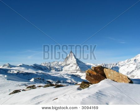 Snow Cowered Matterhorn