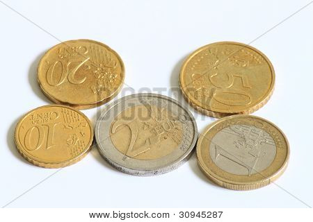 Used Euro coins