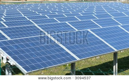 Field Of Solar Batteries