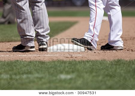 Baseball Players and 1st Base