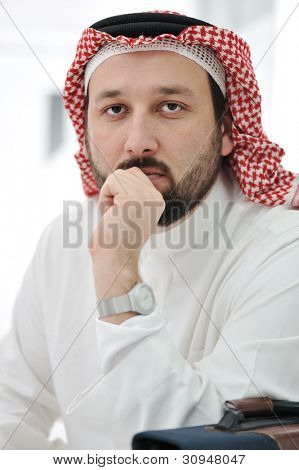 Portrait of arabic man