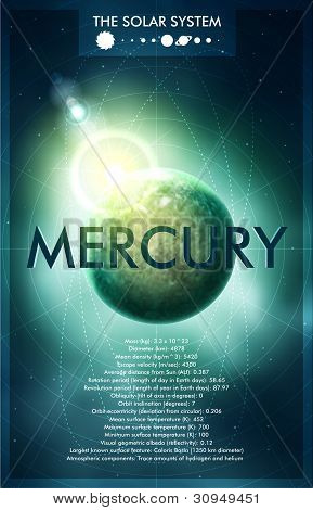 Vector Solar System - Planet Mercury