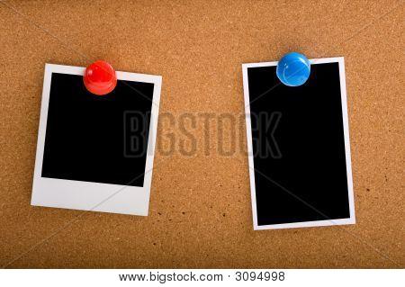 Photographs On Cork-Board