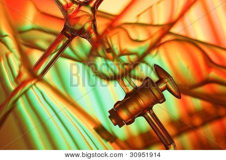 Scientific background laboratory glassware