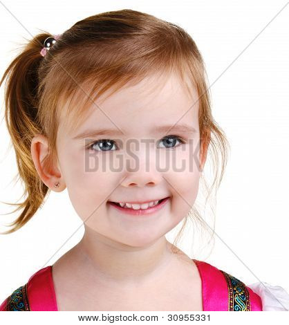 Portrait Of Happy Smiling Little Girl