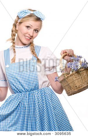 Woman In Little Girl Costume