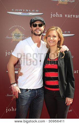 WEST HOLLYWOOD, CA - MARCH 11: KaDee Strickland, Jason Behr at the 9th Annual John Varvatos Stuart House Benefit on March 11, 2012 in West Hollywood, California
