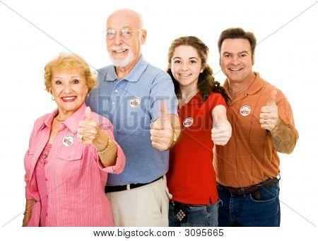 Family Of Voters - Thumbsup