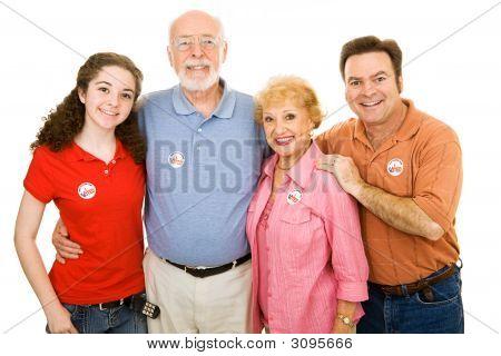 Família americana votada