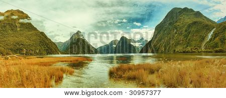 Panorama of the Milford Sound