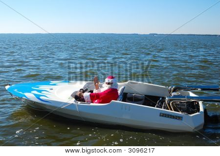 SANTA'S FOUND A FASTER WAY TO GET