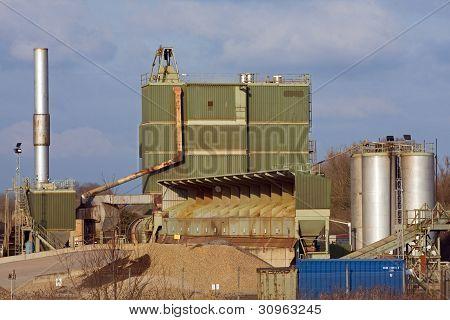 Quarry gravel sorting area