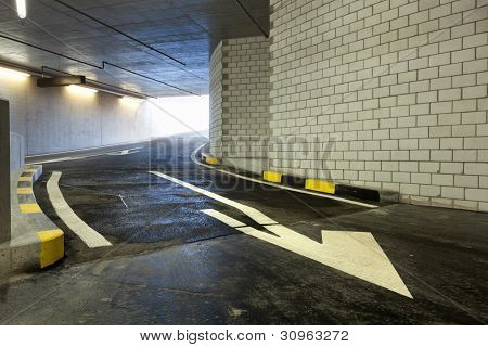 new underground parking, entry cars
