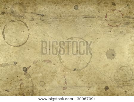 Old Blotched Paper Background