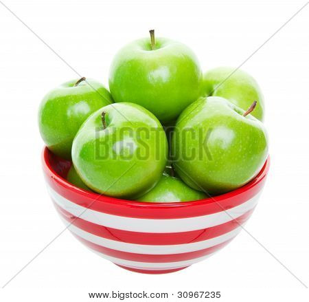 Bowl Of Green Apples