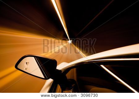 Travel Through Tunnel Motion Blur