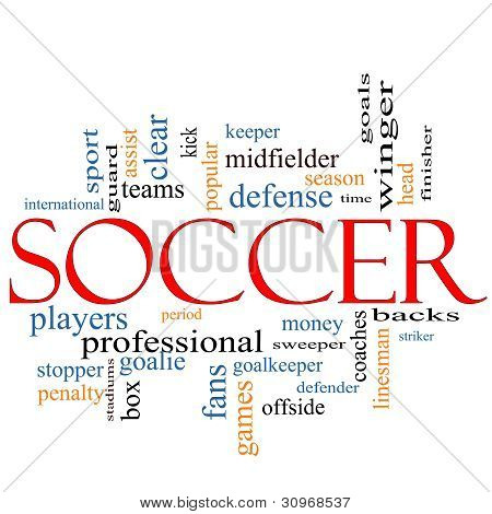 Soccer Word Cloud Concept