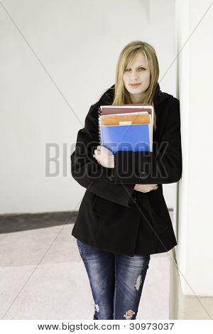 Cute Blond Student.