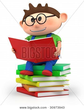 Little Boy Reading
