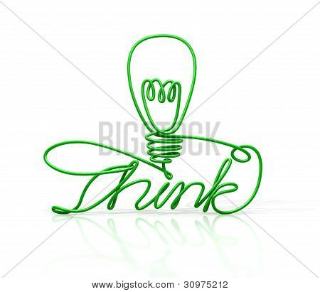 Think Bent And Shaped  Wire Lightbulb