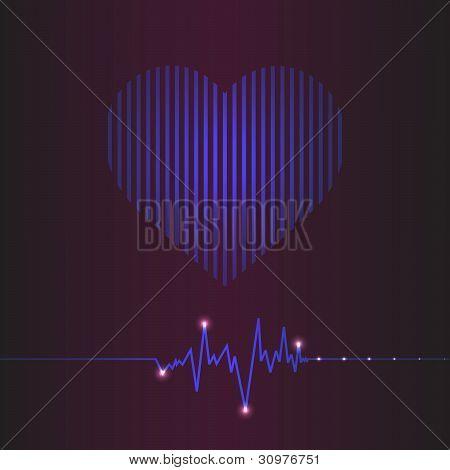 Especial coração abstrata bate Cardiogram ilustração