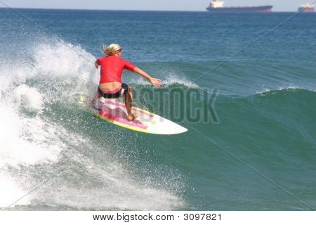Red Surfer Girl