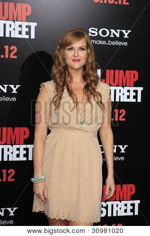 LOS ANGELES, CA - MAR 13: Sara Rue at the premiere of Columbia Pictures '21 Jump Street' held at Grauman's Chinese Theater on March 13, 2012 in Los Angeles, California