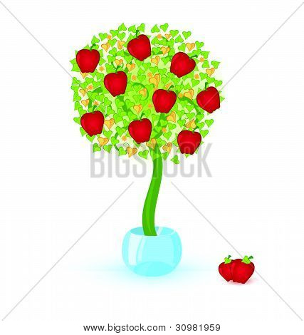 Tree-with-red-apples