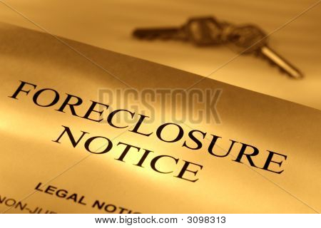 Real Estate Lender Home Foreclosure Notice