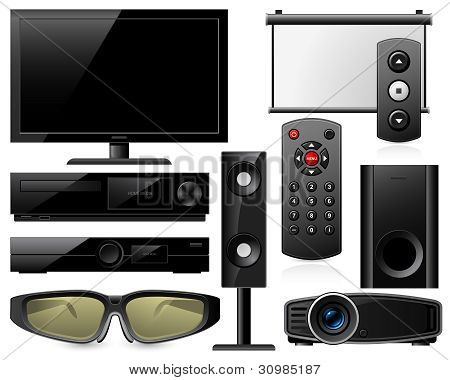 Equipamento de home theater