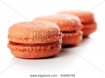 Close up of Tasty macaroons