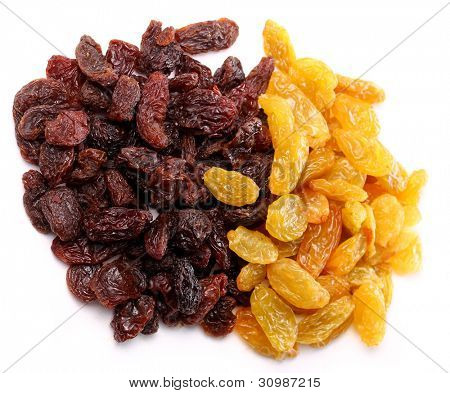 Close up of  colorful raisins