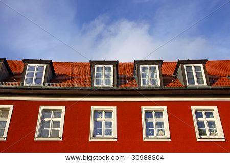 Típica casa residencial alemana