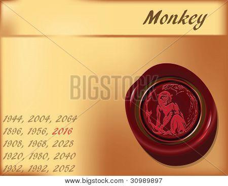 Ano do macaco - fundo