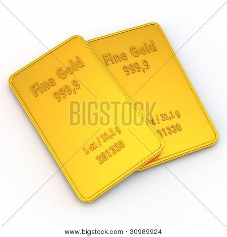 2 Mini Gold Bars - 1 Ounce